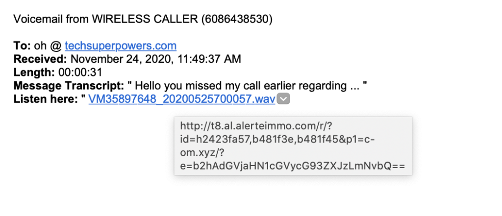 Phishing Example 1